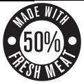 50% Fresh Meat
